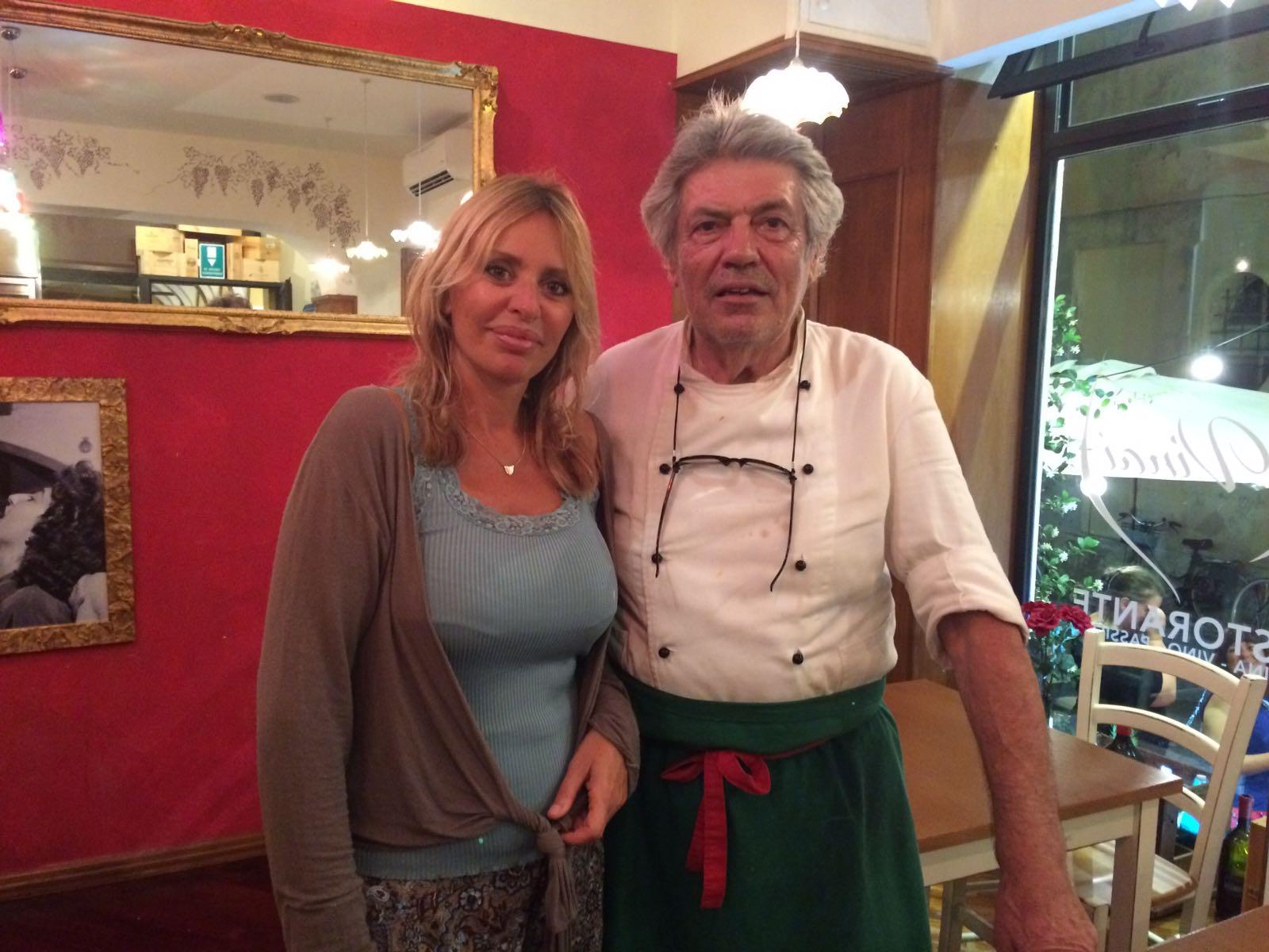 Alessandra Mussolini e lo Chef dai VINAI