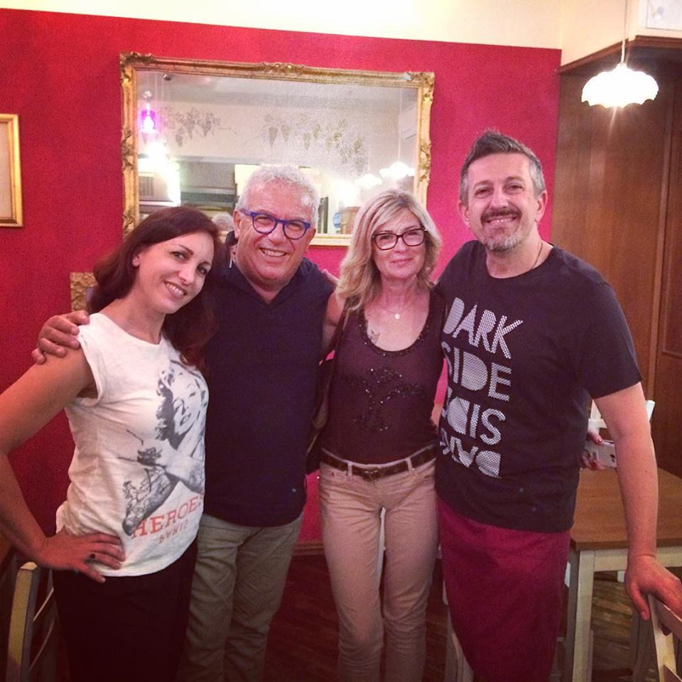 Chef Igles Corelli ed Helga dai Vinai