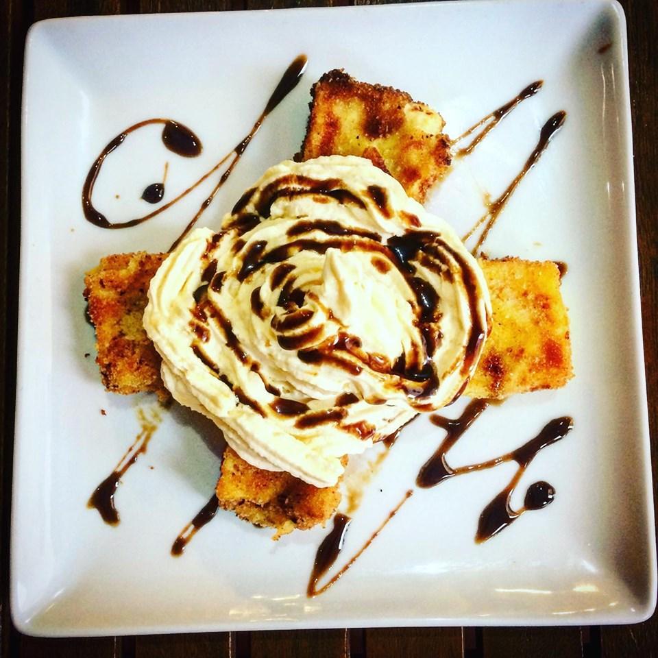crema fritta con chantilly